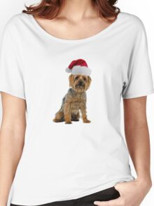 Silky Terrier Christmas Women's Relaxed Fit T-Shirt