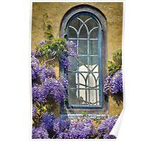 Cottage Window ~ Whitchurch Canonicorum Poster