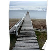 Old jetty in Tamar Valley - Tasmania Poster