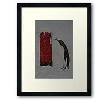 Penguin Post Framed Print