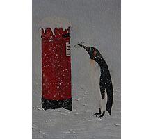 Penguin Post Photographic Print