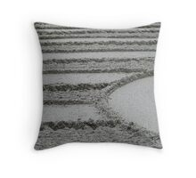 Raked Sand Throw Pillow
