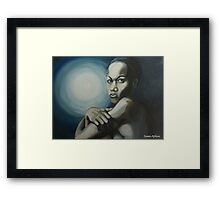 Alone with the moon Framed Print