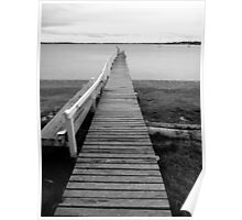 Old jetty in Tamar Valley - Tasmania    B&W Poster