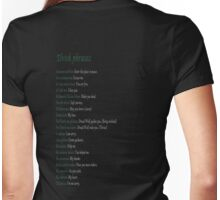 Elvish phrases - Dragon Age Womens Fitted T-Shirt