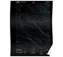 USGS Topo Map Oregon Happy Valley 20110831 TM Inverted Poster