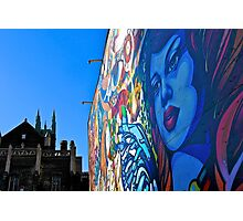 Blue lady in the morning-Toronto mural Photographic Print
