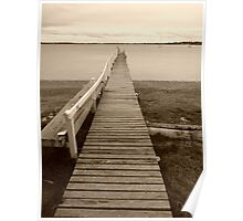Old jetty in Tamar Valley - Tasmania    sepia Poster