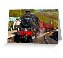 At The Platform - Grosmont Greeting Card