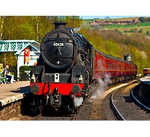 At The Platform - Grosmont Photographic Print