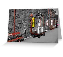 Goathland Station Platform  (SC) Greeting Card