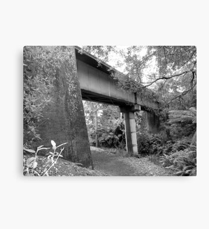 old railway bridge in Tamar Valley - Tasmania    B&W Canvas Print