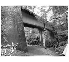 old railway bridge in Tamar Valley - Tasmania    B&W Poster