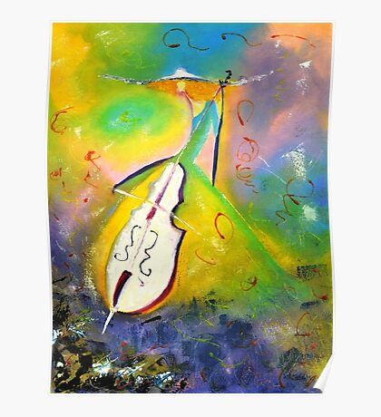 Girl playing Cello Poster