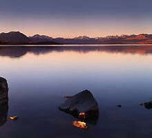 Last Light on Lake Tekapo by Mark Shean