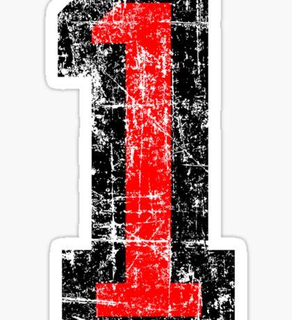Number 1 One First Birthday 1st Design Sticker