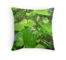 Her Crown Woven of Sunshine, Music and Sweet Summer Love Throw Pillow