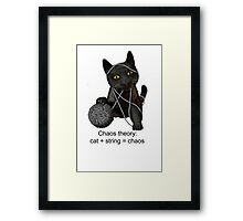 Chaos theory defined Framed Print