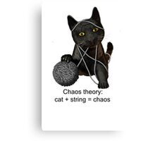 Chaos theory defined Canvas Print