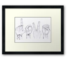 Love Wins. Always. (Harry and Louis) Framed Print
