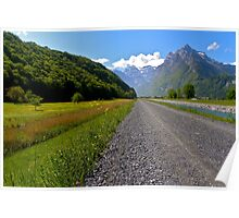 Pathway to Glarus Poster