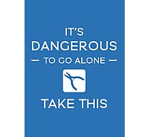 It's Dangerous To Go Alone Photographic Print