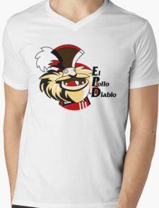 El pollo diablo Mens V-Neck T-Shirt