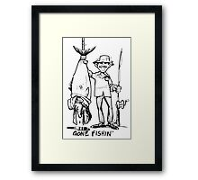 Gone Fishin' Framed Print