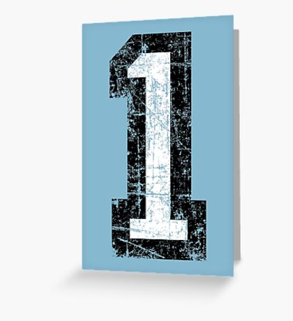 Number 1 One First Birthday 1st Design Greeting Card