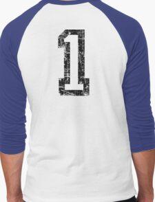 Number 1 One First Birthday 1st Design Men's Baseball ¾ T-Shirt