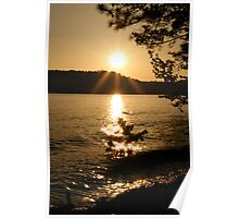 Sunset over Lake Allatoona, Georgia Poster