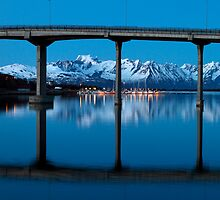 The marina by the bridge by Frank Olsen