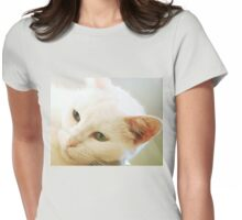 Chin scratch nirvana -Dedicated to Evita Womens Fitted T-Shirt