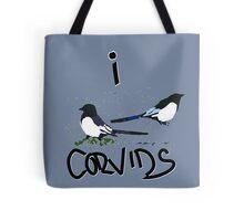 I Love Corvids Tote Bag