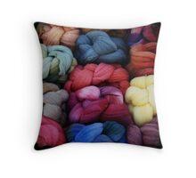 Flea Market Yarn Throw Pillow