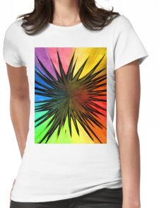 """""""Rainbow Splat"""" Clothing Womens Fitted T-Shirt"""