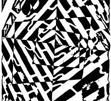 Chaos Maze Optical Illusion by Yonatan Frimer by Yonatan Frimer