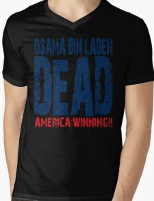 Osama is Dead - Light Mens V-Neck T-Shirt
