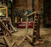 Abandoned Factory Floor by Adara Rosalie