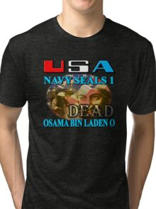 Osama Bin Laden is Dead Tri-blend T-Shirt