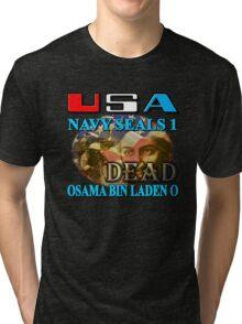 Osama Bin Laden is Dead Tri-blend T-Shirt