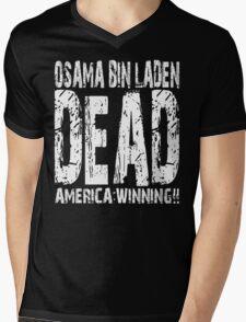 Osama is Dead - Dark Mens V-Neck T-Shirt
