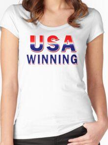 USA Winning Women's Fitted Scoop T-Shirt