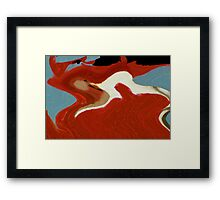 On Wings of Fire Framed Print