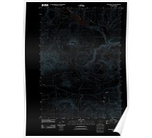 USGS Topo Map Oregon Cow Valley East 20110831 TM Inverted Poster