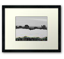 Oilseed Rape Field Abstract Framed Print