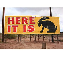 Route 66 - Jack Rabbit Trading Post Photographic Print