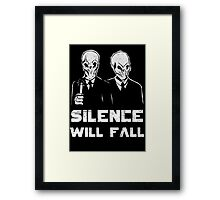 The Silence. Framed Print