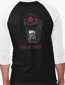 Head Shot ver. 2 (Hoodie) Men's Baseball ¾ T-Shirt