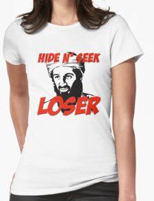 Osama Bin Laden Hide N' Seek Loser Womens Fitted T-Shirt